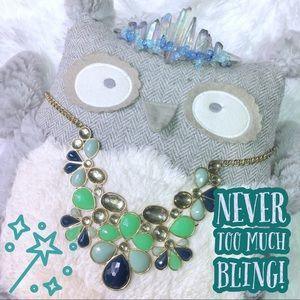 Olivia Welles Flower Petal Bib Statement Necklace